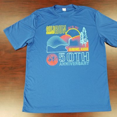 Gold Discovery Run Shirt 50th - Front