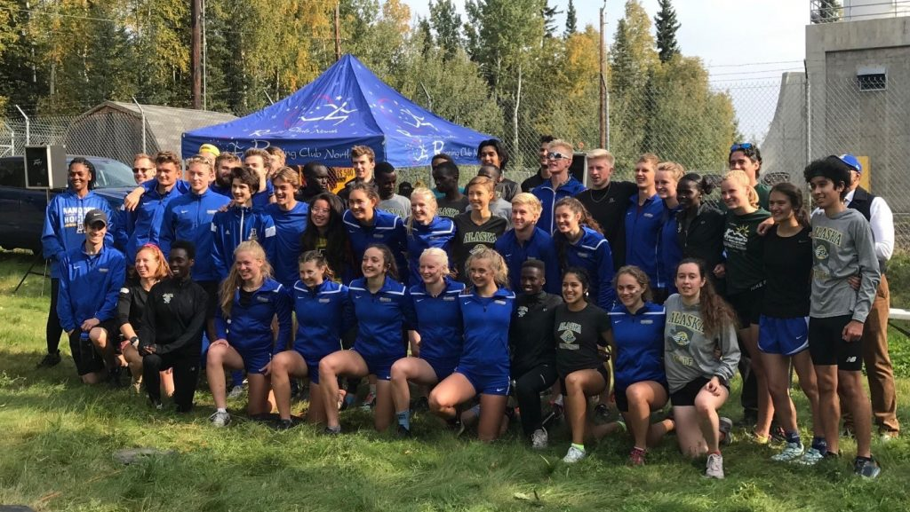 UAF Blue and Gold Run Fest participants
